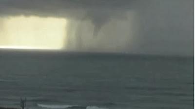 Tornado na Ericeira gravado em vídeo