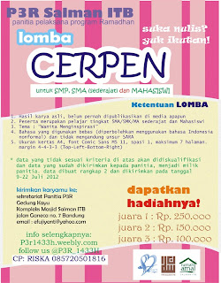 lomba cerpen p3r 1433H salman itb