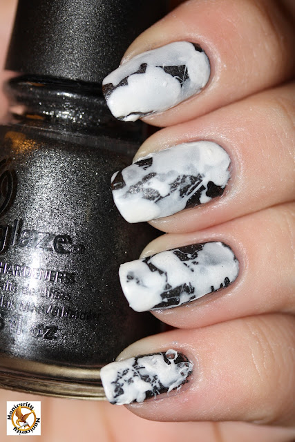 Hunger Games Nails - District Two featuring China Glaze Stone Cold