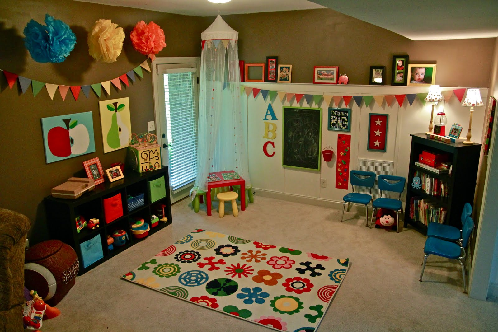 everyday blessings diy colorful bunting banner and other ForKids Playroom Accessories