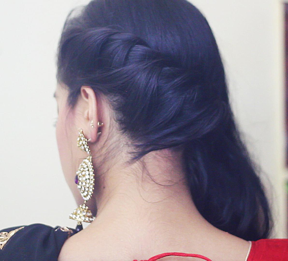 EASY DIWALI MAKEUP AND HAIRSTYLE Debasree Banerjee - Hairstyle easy video