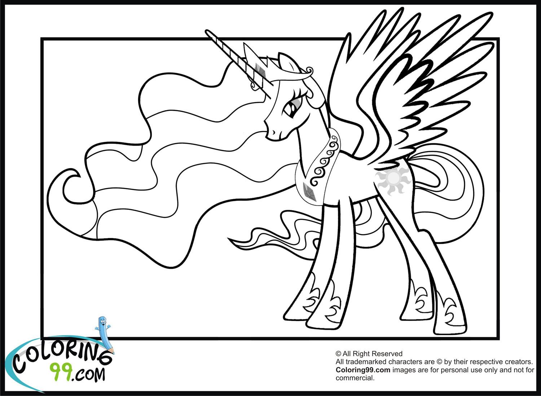 My Little Pony Princess Celestia Coloring PagesPrincess Celestia And Twilight Sparkle Coloring Pages