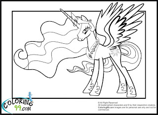 new princess celestia coloring pages