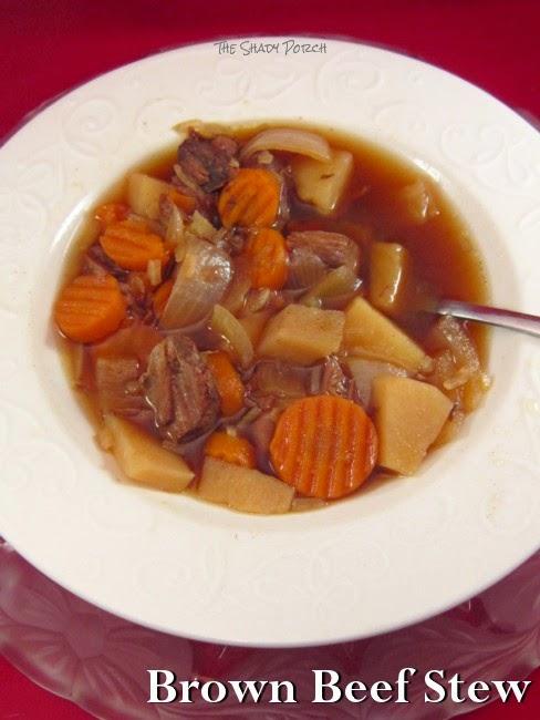 serving of Brown Beef Stew