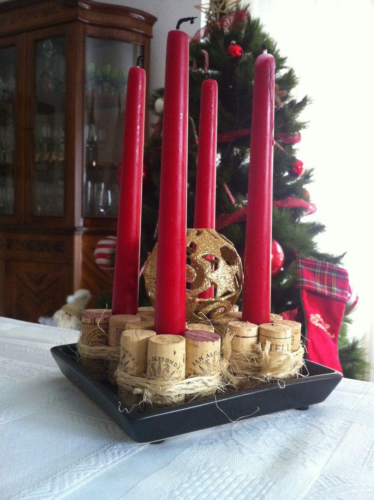 Icono interiorismo adornos navide os hechos con corchos - Detalles navidenos caseros ...