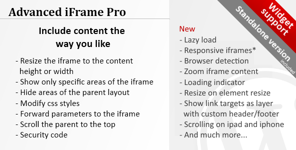 Free download Advanced iFrame Pro V7.0 Wordpress Plugin