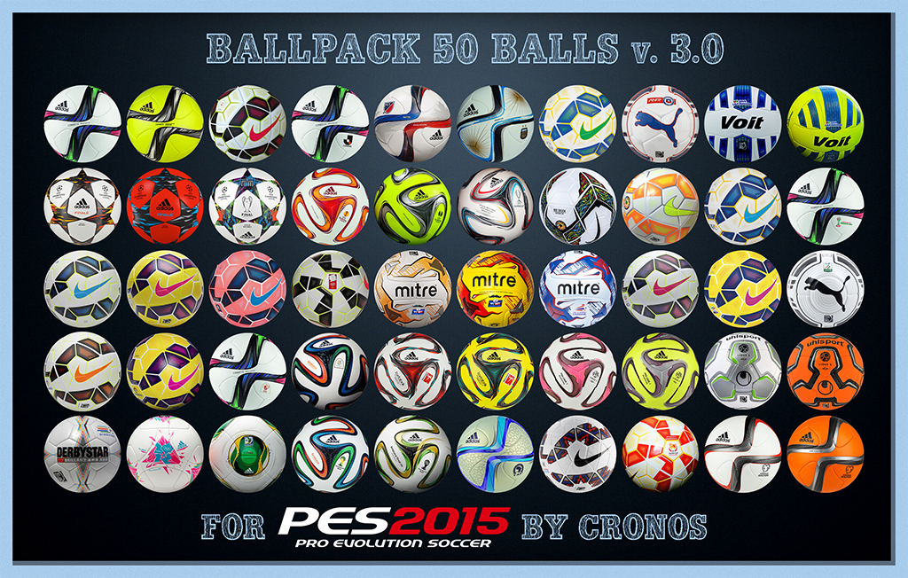 PES 2015 Ballpack v3.0 by Cronos