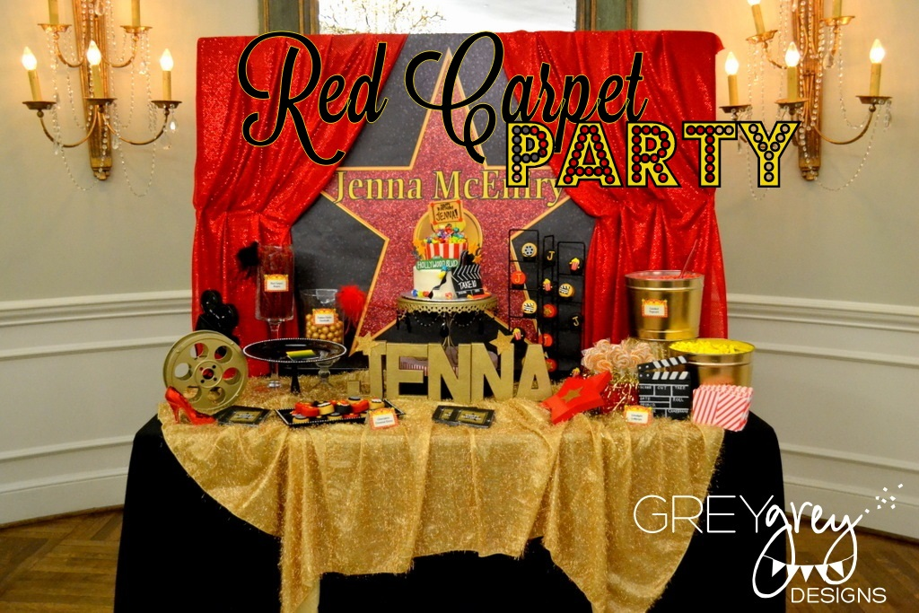 Greygrey designs my parties jenna 39 s red carpet for Hollywood party dekoration