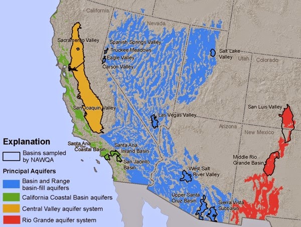 The Western US Drought - Aquifer map of us