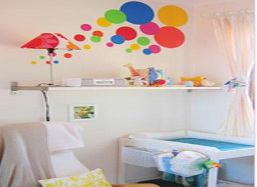 concept of wall decoration, balloon concept, wall decoration idea