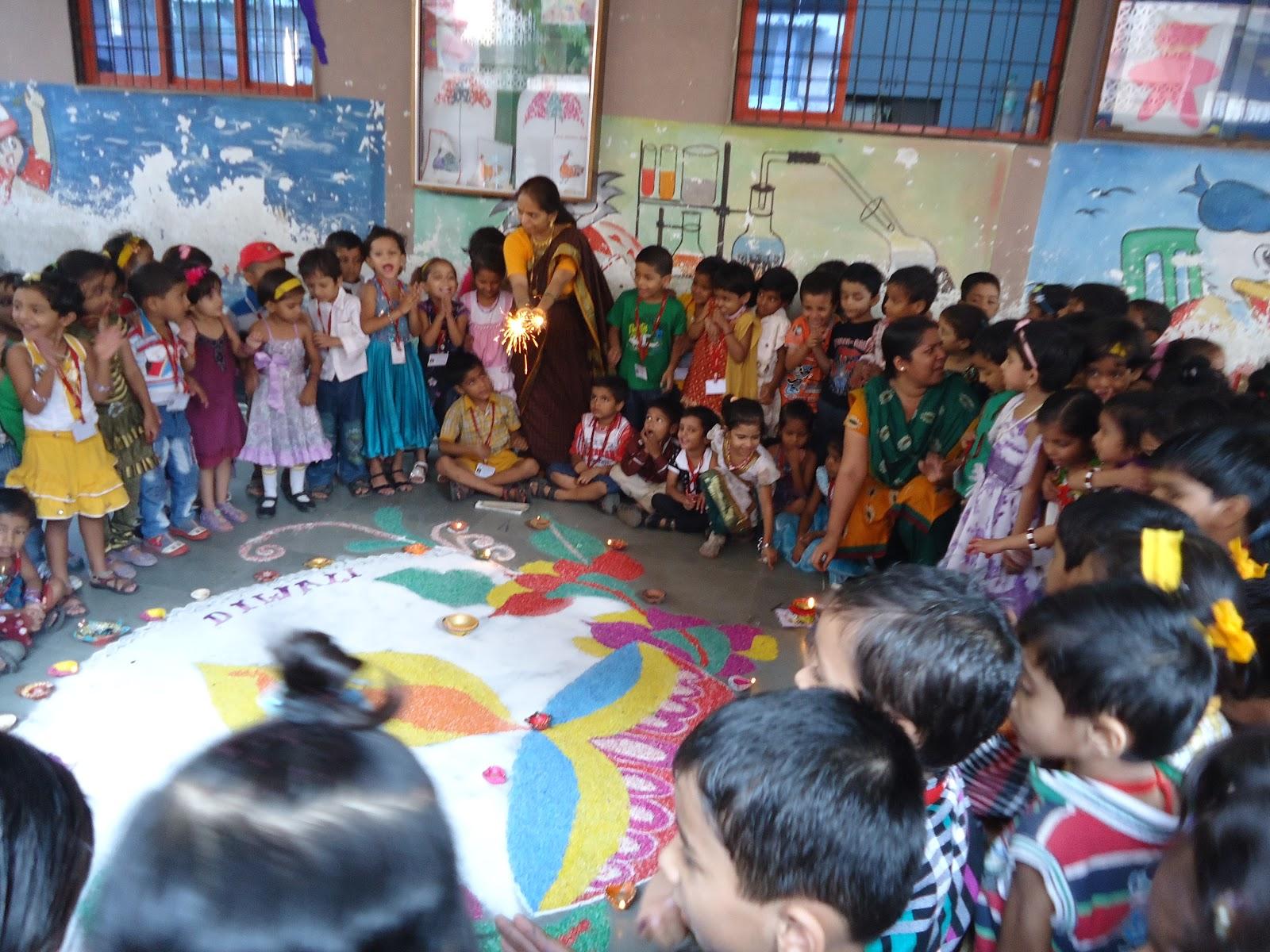 preschool diwali celebrations or school