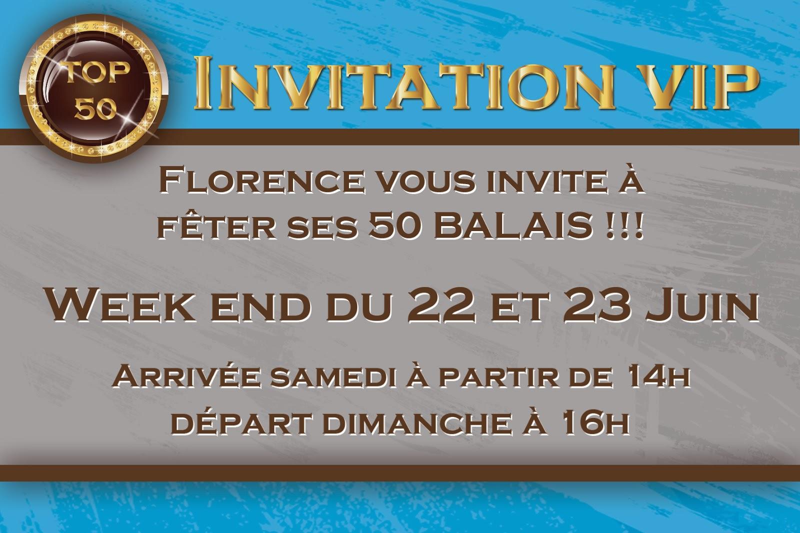 Connu Vincegraphik: Invitation anniversaire - 50 ans MK67