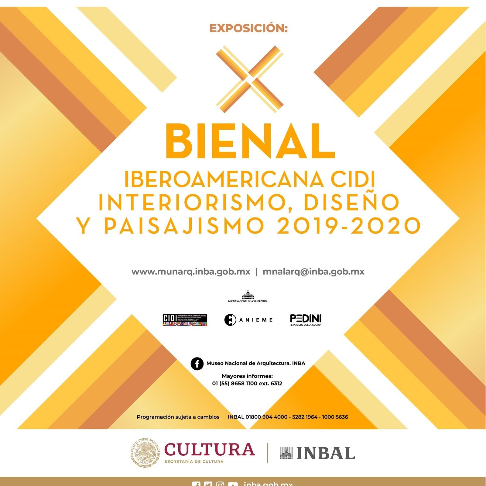 X Bienal Iberoamericana CIDI Interiorismo, Diseño & Paisajismo 2019-2020