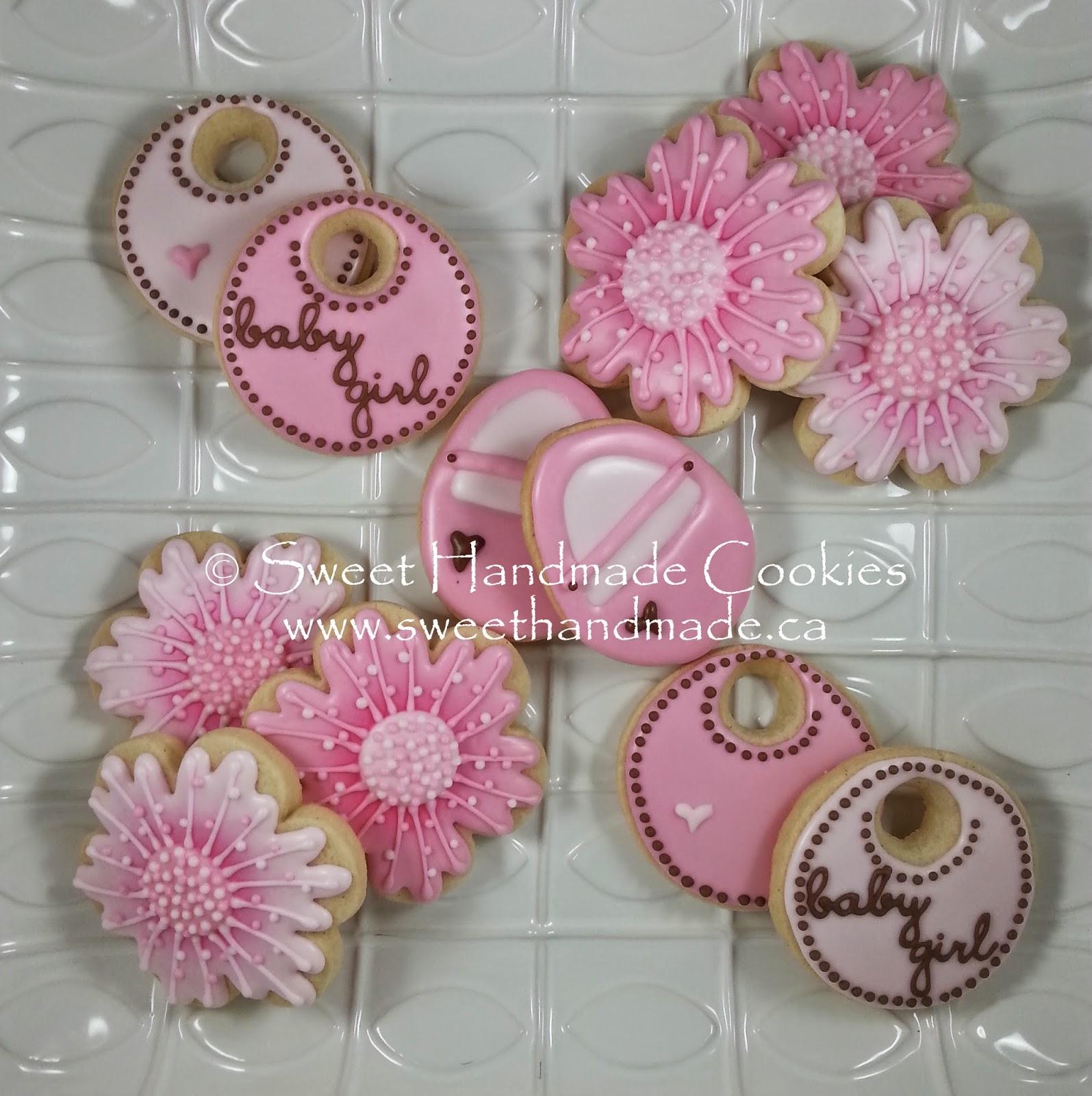 Sweet Handmade Cookies Baby Shower Cookies For A Girl