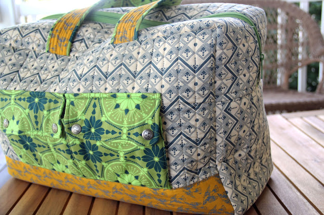 Cargo Duffle by Noodlehead using Anna Maria Horner fabrics