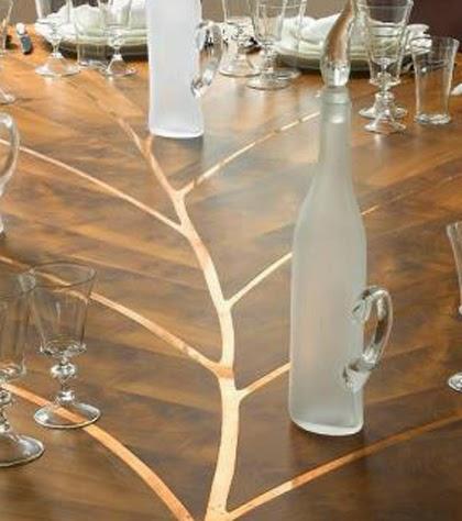 Leaf Model Wooden Dining Table