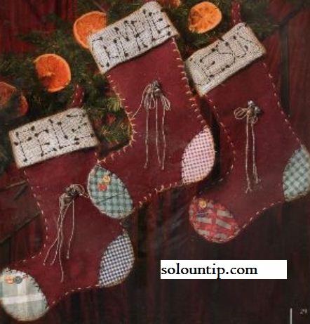 Patrón navideño de Bota ~ Solountip.com