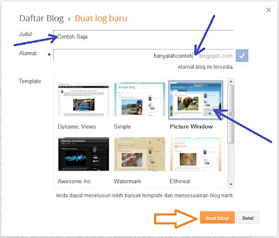 Cara Membuat Website Blog Blogger Baru 2013
