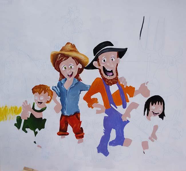 Proceso de pintura mural