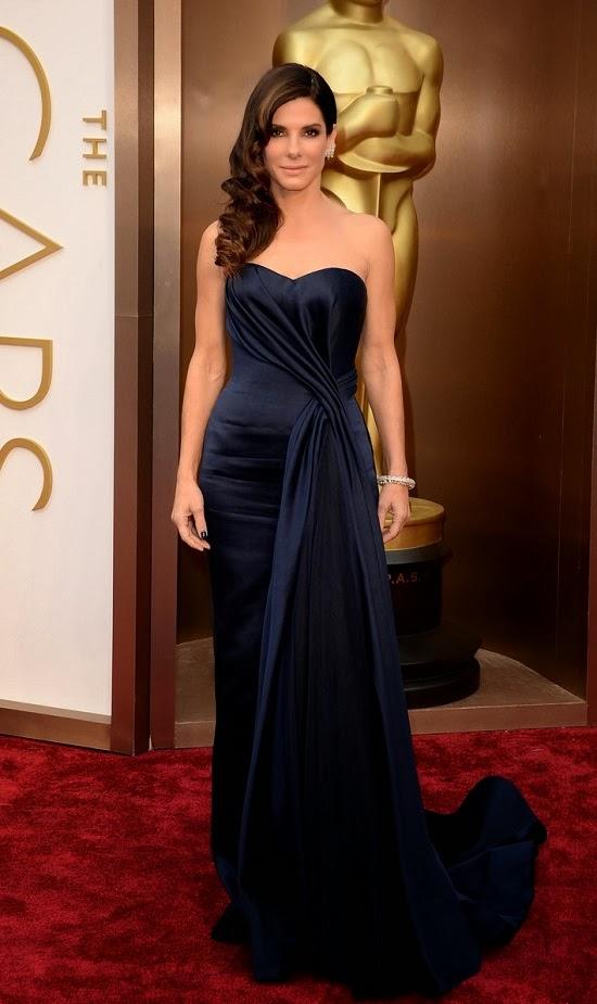 Sandra Bullock in Alexander McQueen gown at 2014 Oscars