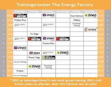 Trainingsrooster