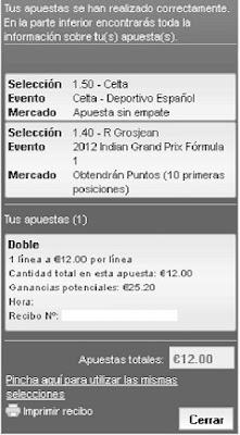 Apuestas Deportivas Rosberg Fórmula1 + Fútbol - G.P. India +Liga BBVA Lbapuestas bono gratis