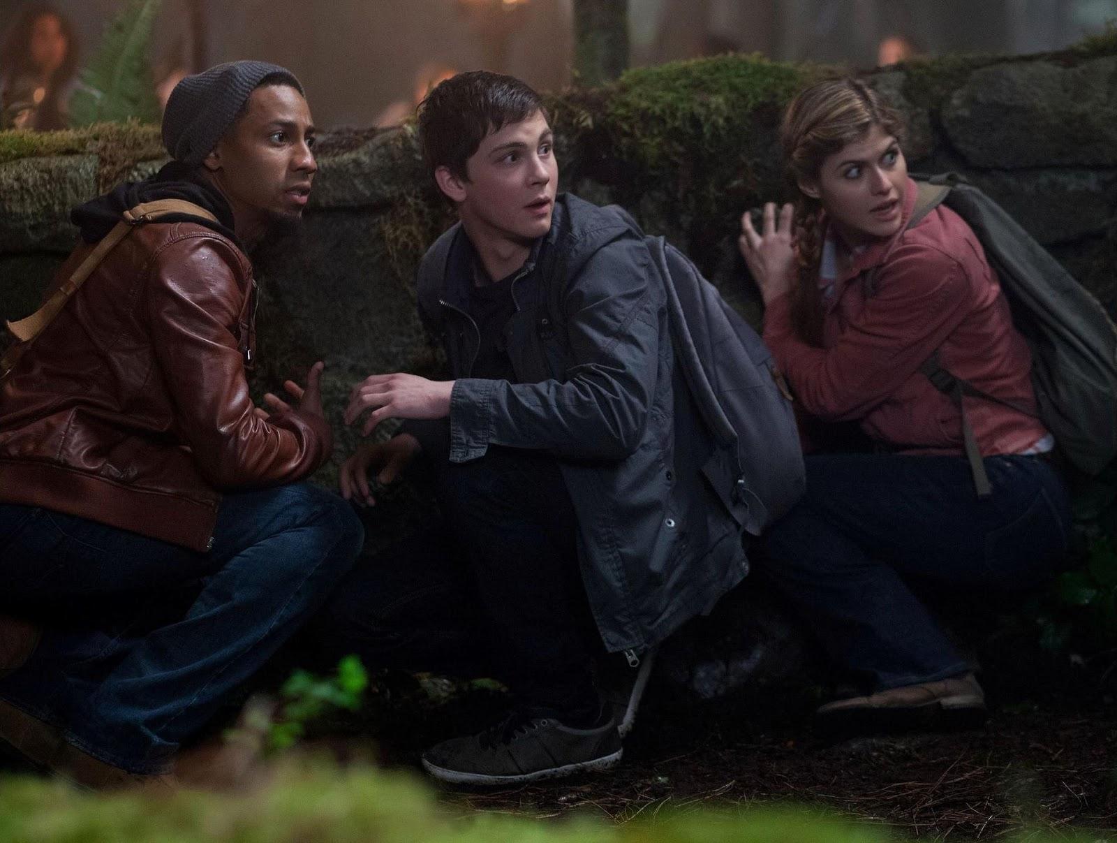 Brandon T. Jackson como Grover Underwood, Logan Lerman como Percy Jackson y Alexandra Daddario como Annabeth Chase