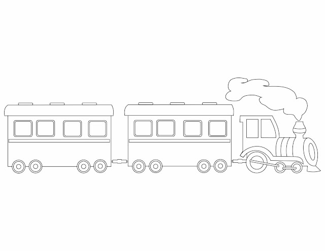 coloring pages trains preschoolers development - photo#14