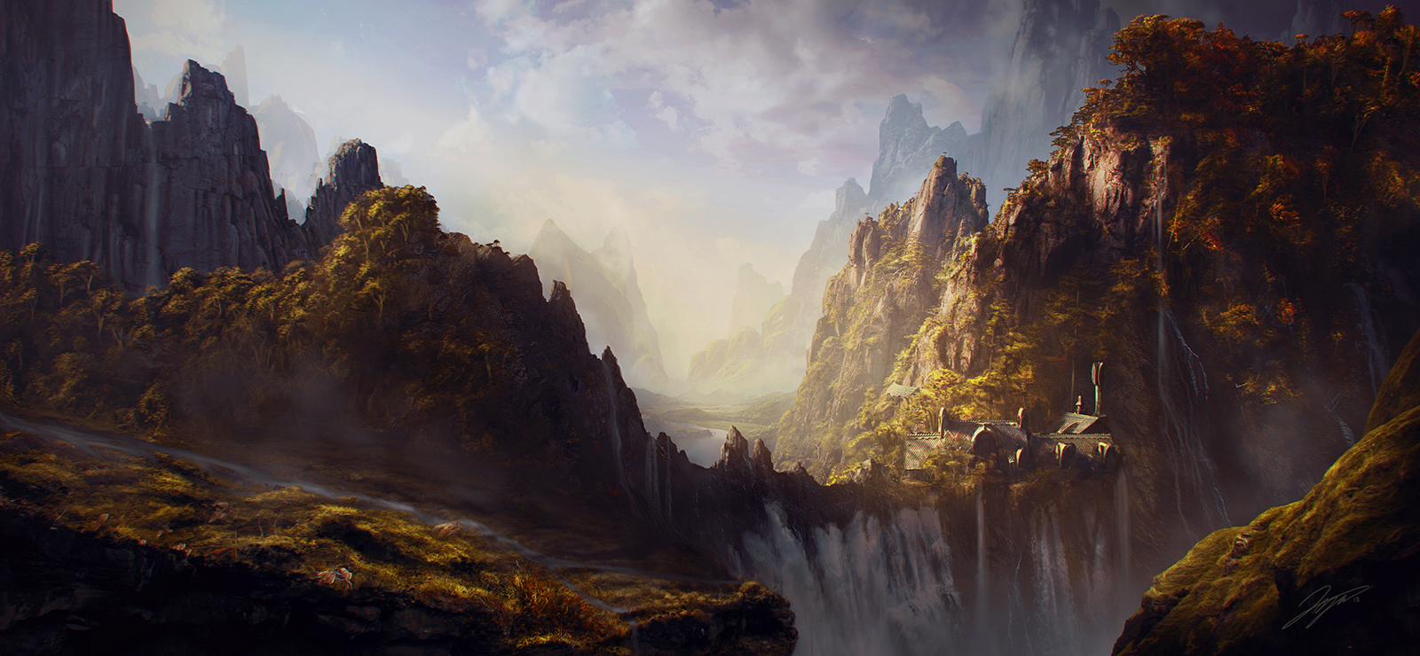 Hobbit gmail theme - Done For A Matte Painting Challenge At Cgchannel Com The Theme Was The Hobbit