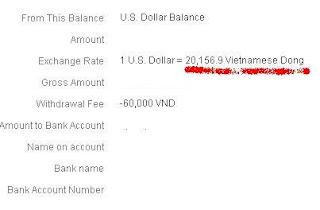 Giá tiền từ Paypal rút về Việt Nam đã điều chỉnh lại ! Pp