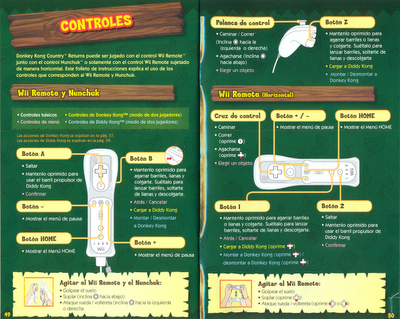 Controles de Donke Kong Country Returns