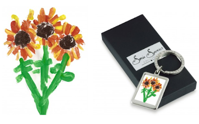 keyring designed with child's art