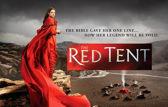 czerwony namiot