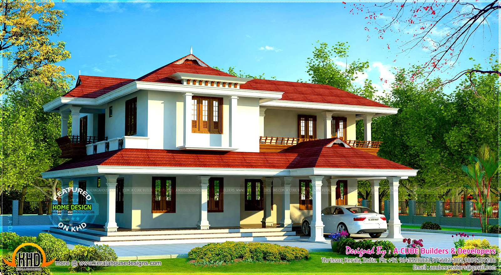 298 square meter beautiful villa kerala home design and for Beautiful villa design