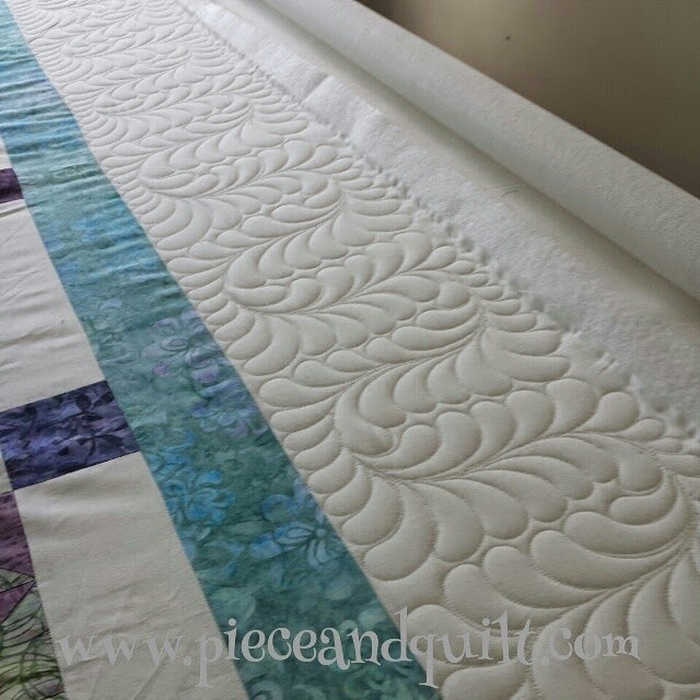 Piece N Quilt Custom Machine Quilting Feathers Amp Cables