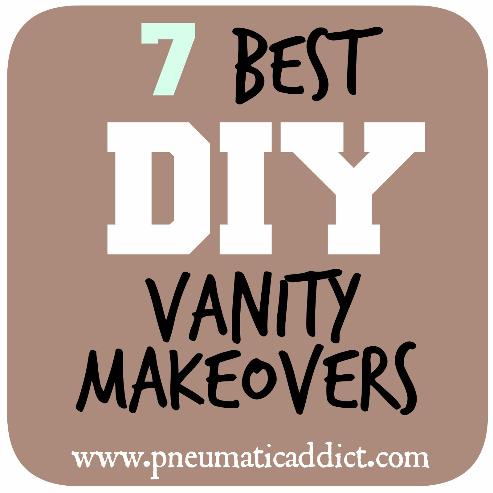 7 Best DIY Bathroom Vanity Makeovers. Pneumatic Addict   7 Best DIY Bathroom Vanity Makeovers