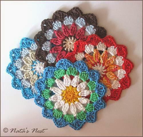 Natas Nest: Mandala Flower Coaster - Free Crochet Pattern ...