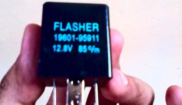 Bikin Lampu Sein Motor Berbunyi Menggunakan Flasher