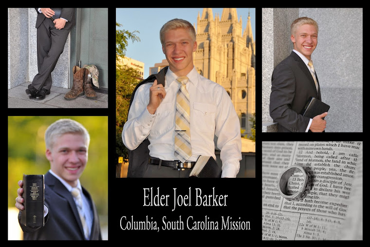 Elder Joel Preston Barker ~Columbia, South Carolina Mission~