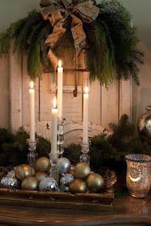 Decoração, natal,  velas