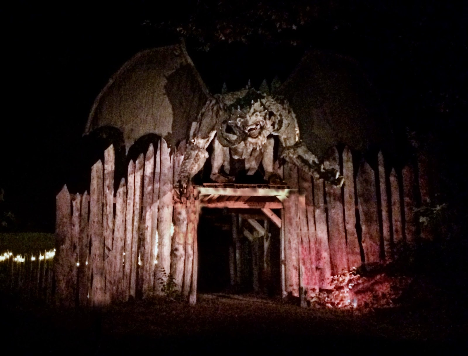 Haunted Acres Facade - Halloween New England