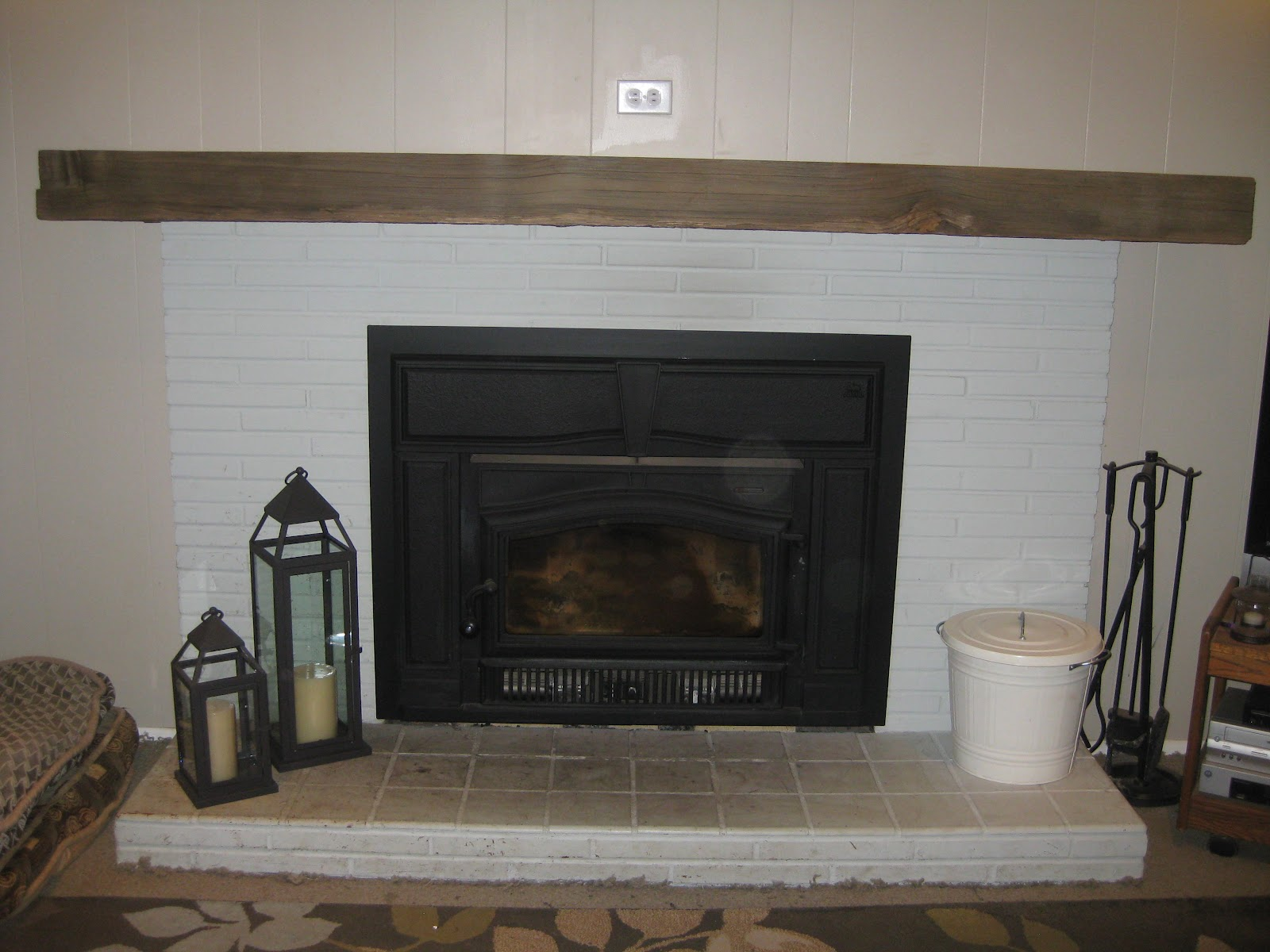 ice cream french fries diy fireplace mantel