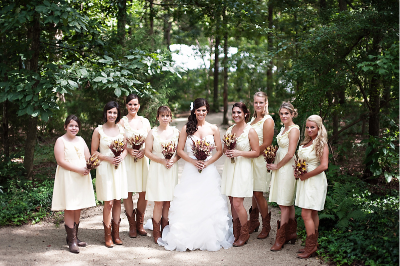 Yellow Bridesmaid Dresses With Cowboy Boots 8