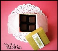 ::Homemade chocolate with box::