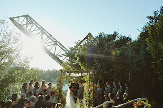 Juanita and Jon exchange their vows at The Canal - Kent Buttars, Seattle Wedding Officiant
