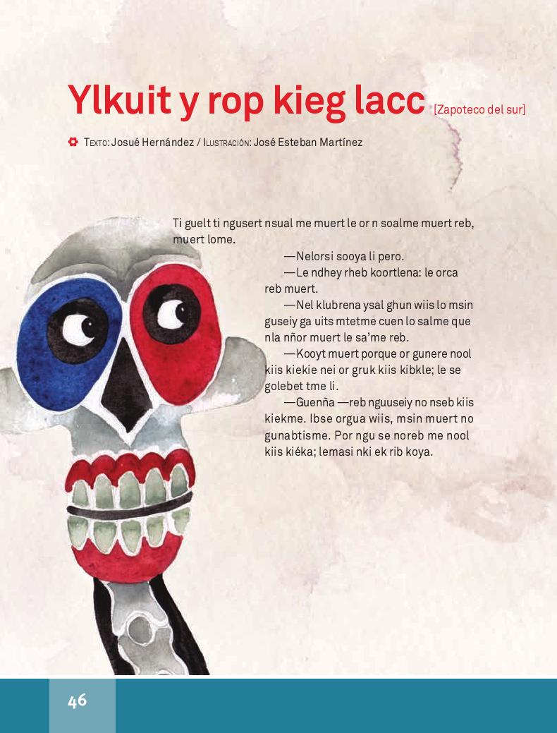 Ylkuit y rop kieg lacc / La muerte y el pelón - Español Lecturas 4to 2014-2015