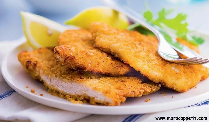 Recette d'escalopes de dinde panées | Turkey cutlets breaded recipe