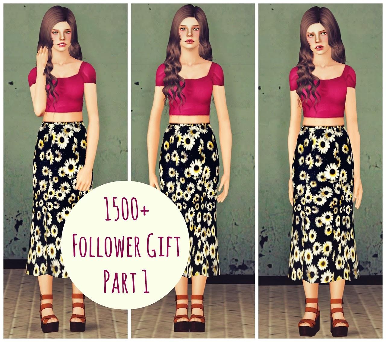 My sims 3 blog forever 21 inspired sunflower midi skirt by lullabysims