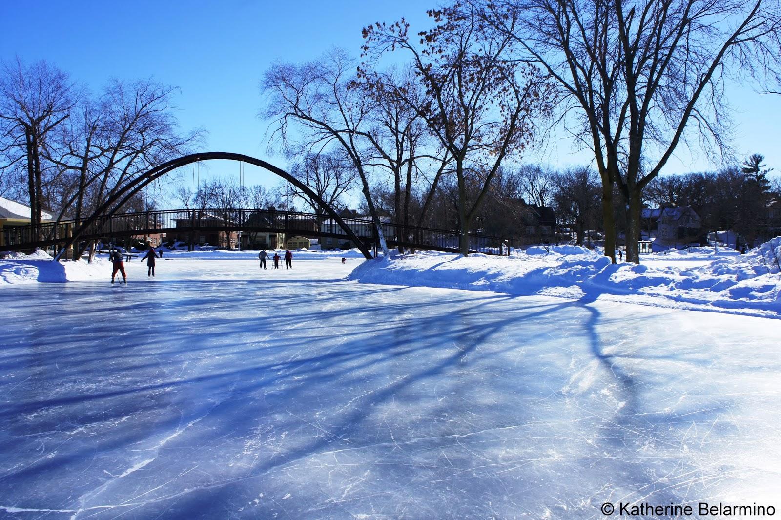 Frozen Tenney Park Lagoon madison Wisconsin