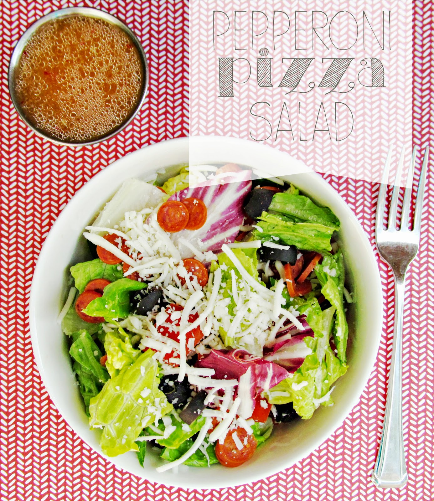 Almost as good as the real thing! Pepperoni Pizza Salad! A great Summer picnic dish!